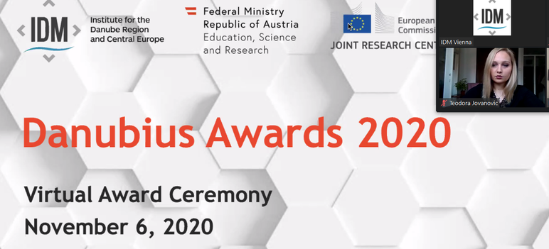 Danubius Young Scientist Award granted to the Research Assistant of the Institute of Ethnography SASA